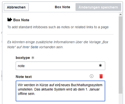 Screenshot: Box Note, note